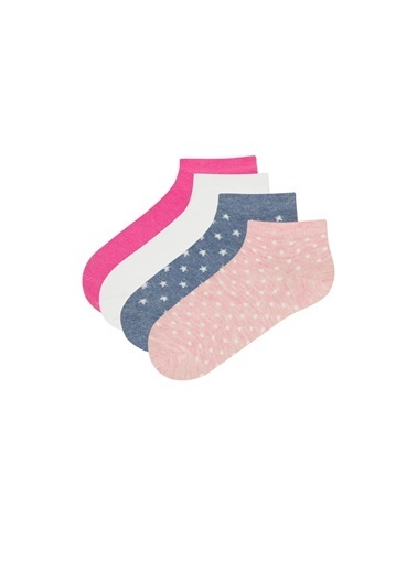 Penti Kız Çocuk Main 4Lü Patik Çorap Renkli